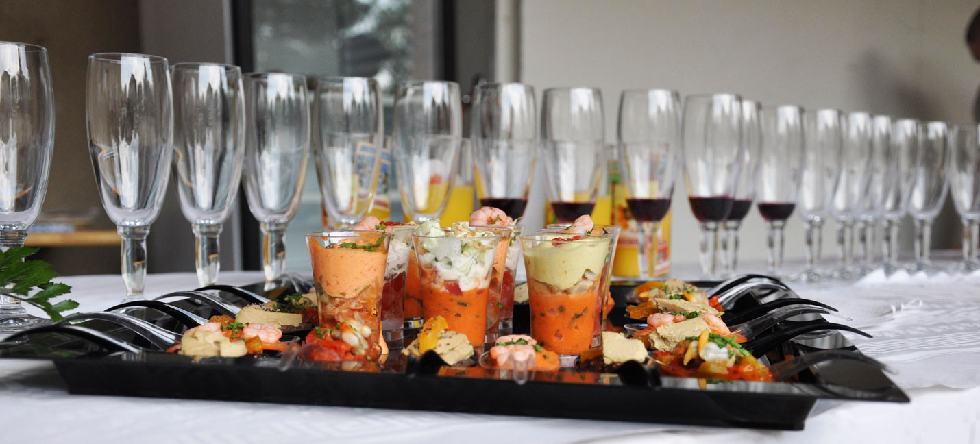 Buffet coupes Champagne verrines
