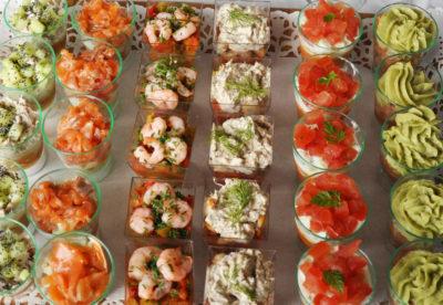 verrines saumon tomates